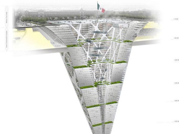 Querem Construir um Edificio Debaixo da Terra na Cidade do Mexico