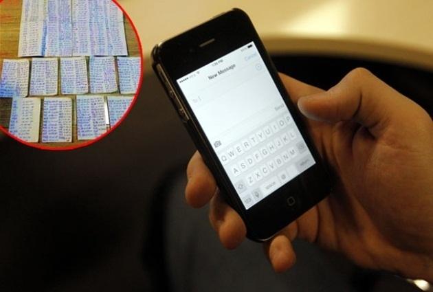 Ladrão rouba IPhone, depois envia os contatos escritos em um papel para o proprietário