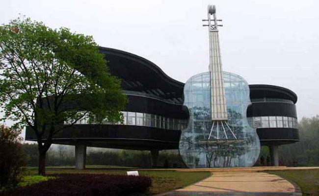 Conheça a construção na China inspirada em instrumentos musicais-3