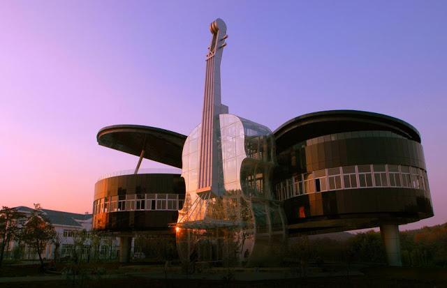 Conheça a construção na China inspirada em instrumentos musicais-4