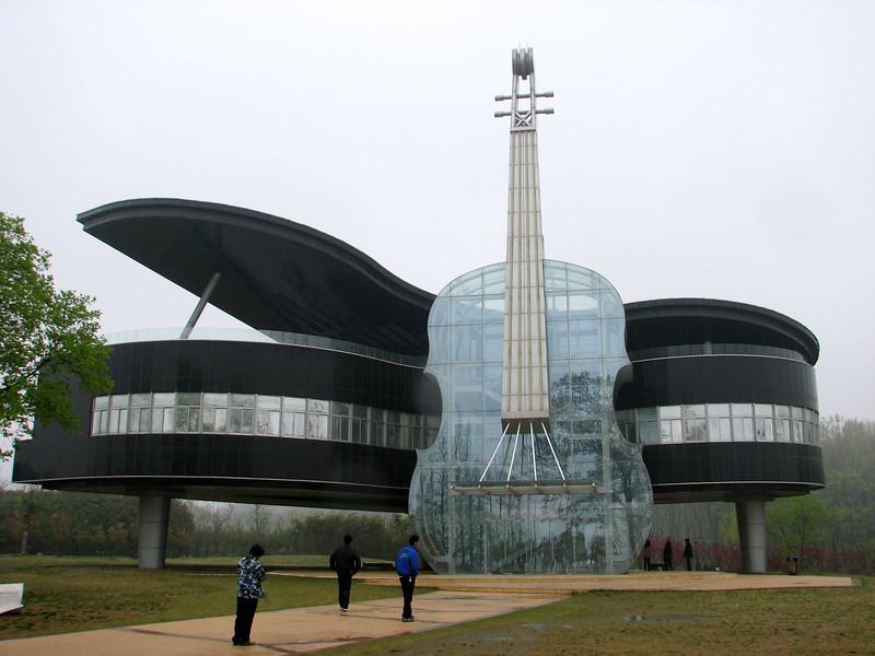 Construção na China inspirada em instrumentos musicais