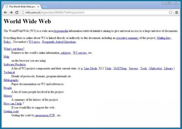 O primeiro site do mundo está de volta! Veja como era em seu endereço web original