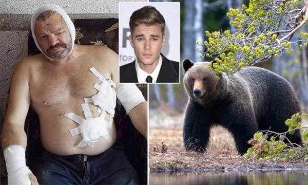 Música de Justin Bieber toca e espanta urso que atacava pescador