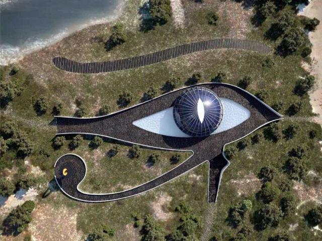 Modelo Naomi Campbell construirá mansão em forma de Olho de Hórus